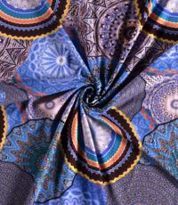 Tricot mandelacirkels blauw