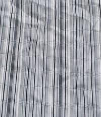 Seersucker streep grijs