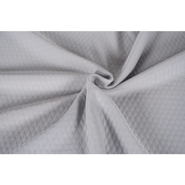 Grijs doorgestikte polyester