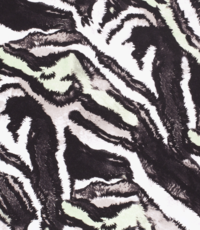 Viscose tricot in dierenprint met mintgroen