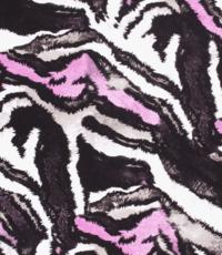 Viscose tricot in dierenprint met rose