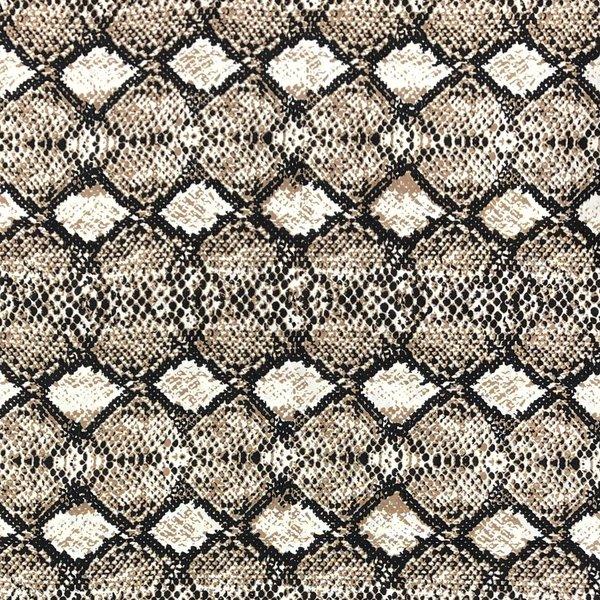 Viscose met bruine slangenprint
