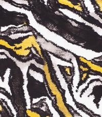 Viscose tricot in dierenprint met geel