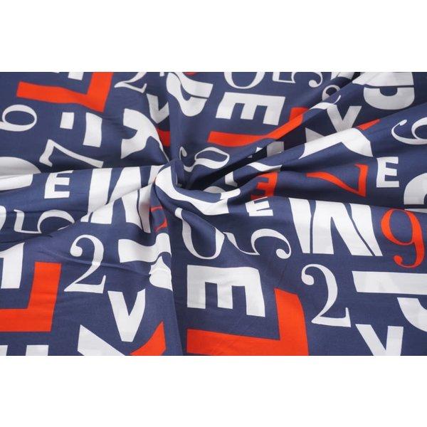 Viscose letters in 3-kleur