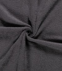 Badstof donker grijs