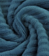 Jersey rib  jeansblauw