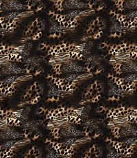 Crepe dierenprint zwart