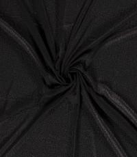 Chiffon met kleine stipjes zwart