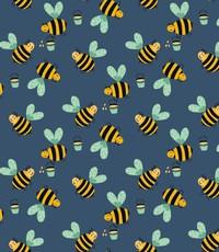 Just bee's op blauw