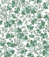 Groen bloemetje op wit