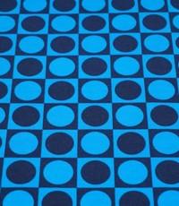 Retro bol in blok kobalt met donkerblauw