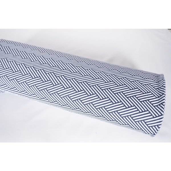 Zigzag donkerblauw met wit