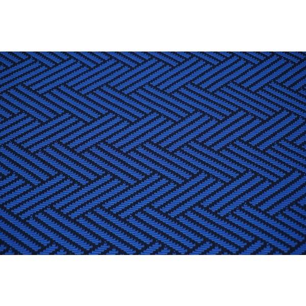 Zigzag kobalt met zwart