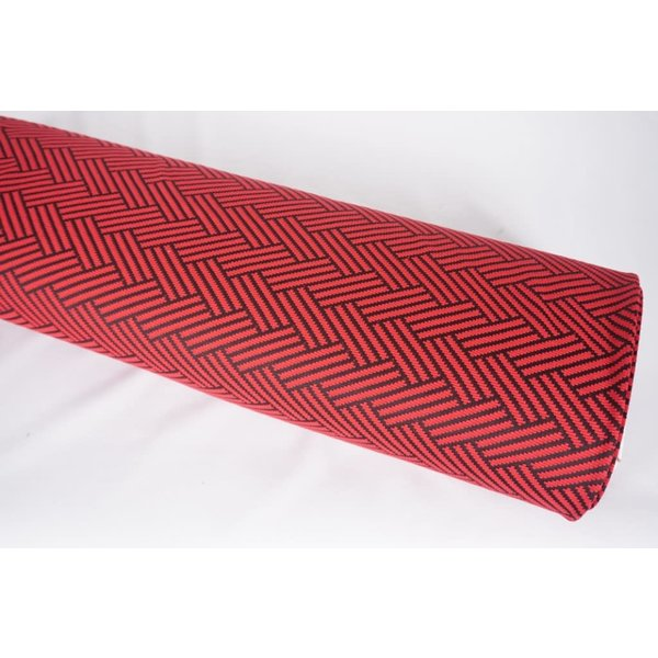 Zigzag rood met zwart