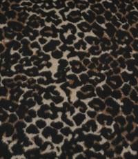 Mantel tijperprint bruin