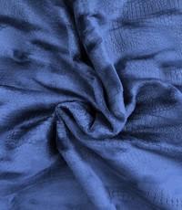 Stretch snake velours donkerblauw