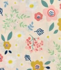 Kinderkatoen bloemetje op zalmrose