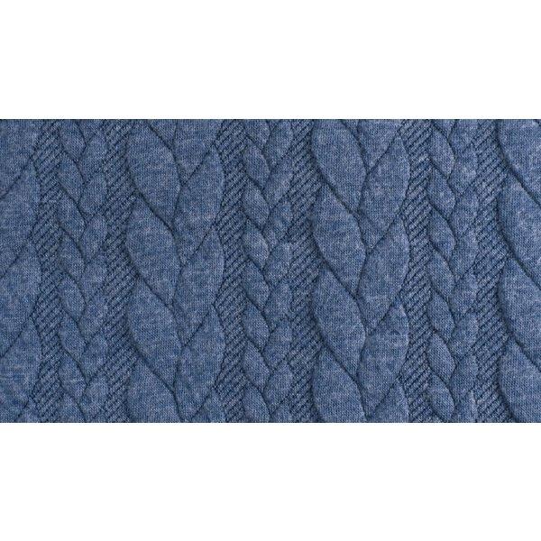Kabel gebreid jeansblauw