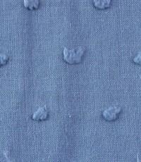 Katoen met nopje donker jeansblauw