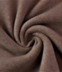 Double fleece katoen taupe