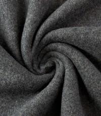 Double fleece katoen antraciet