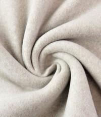 Double fleece katoen beige