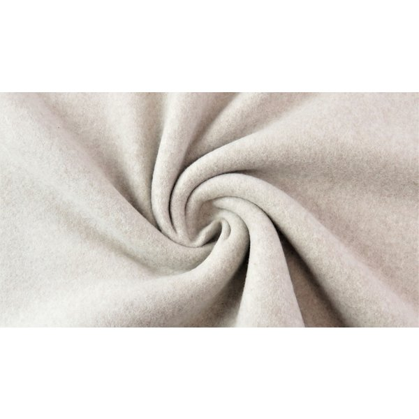 Double fleece katoen beige
