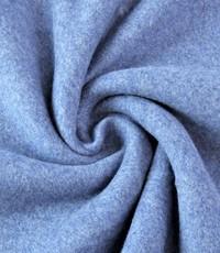 Double fleece katoen jeansblauw
