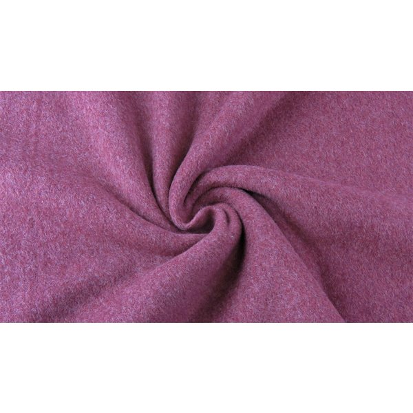 Double fleece katoen bordeaux
