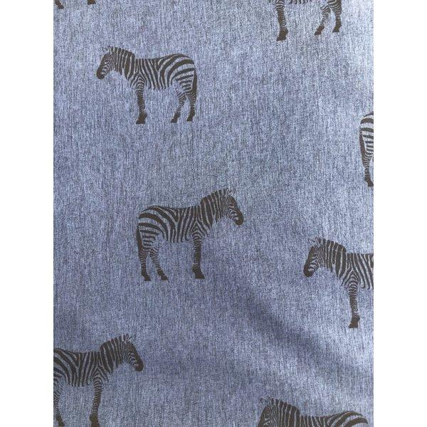 Softshell coupon zebra blauw