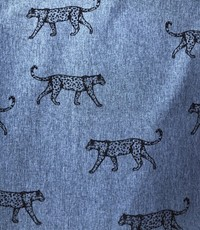 Softshell coupon cheetah jeansblauw