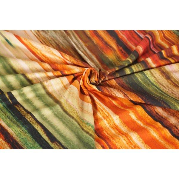 Tricot diagonale streep herfst