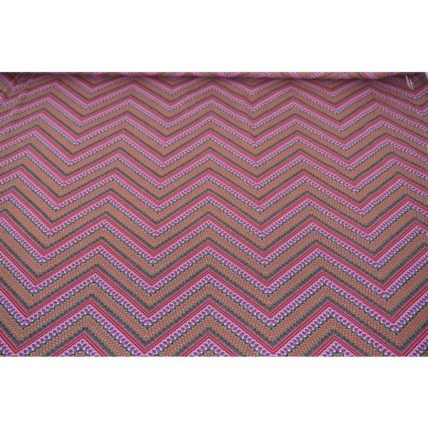 Tricot roze zigzag