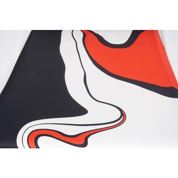 Tricot pendel in rood zwart en wit