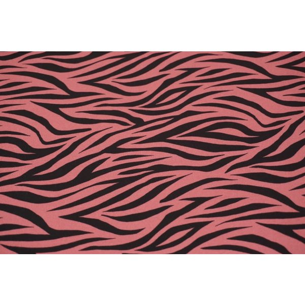 Tricot zebra poederrose