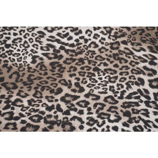 Tricot tijgerprint middenbruin