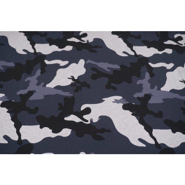 Tricot camouflage blauw grijs