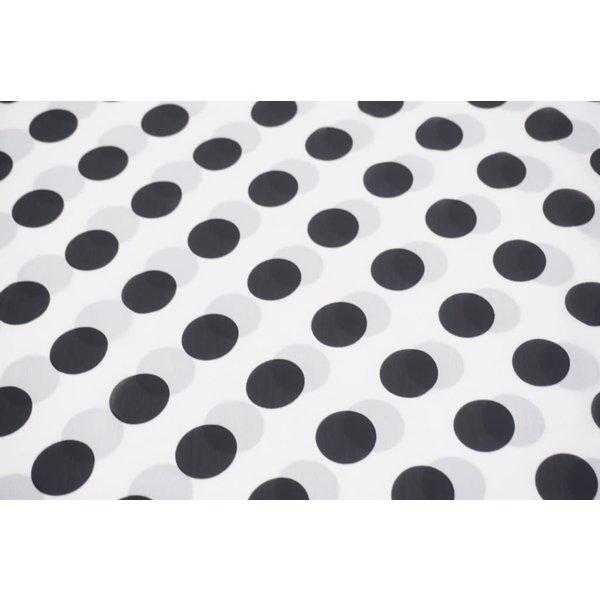 Big black dot on white