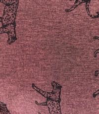 Softshell coupon cheetah bordeauxrood