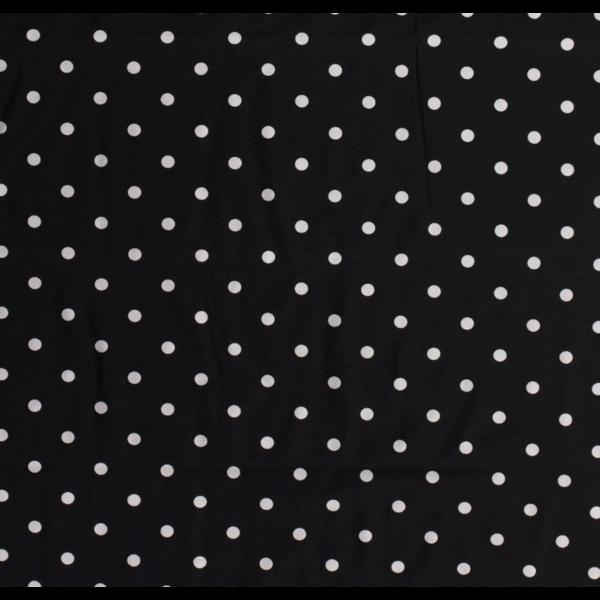 Tricot Polka dot zwart wit