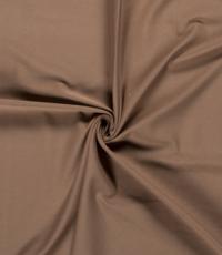 Katoenen tricot zware kwaliteit cognac