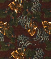 Crepe met bladbedrukking brique
