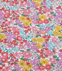 katoenen bloemetje roze en rood