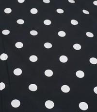 Polka dot zwart wit groot