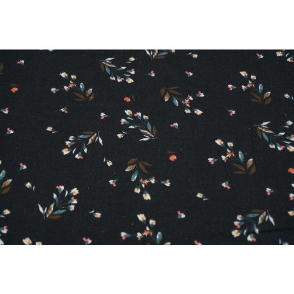 Katoenen minibloem in zwart