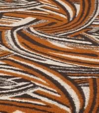 Gebreide wol bruin met zwart retro