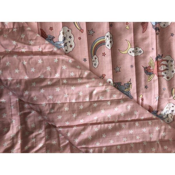 Gewatteerd unicorn roze /  sterretjes