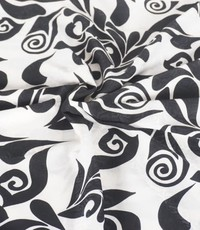 Dubbelprint zwart wit