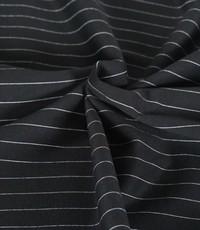 Punta krijtstreep zwart