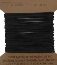Rond elastiek 1,3 mm breed zwart